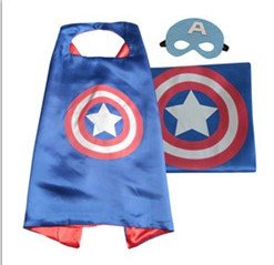 Superhero Cape with free Mask for kids - Party Costume (Captain America) - Bambini Cape