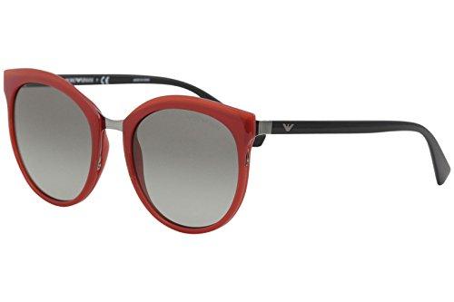 Emporio Armani Damen Sonnenbrille 0EA2055 320711, Rot (Red/Grey), 55