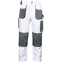 Stenso Emerton® - Pantalon de Travail/Cargo pour Homme - Robuste - Blanc - 52