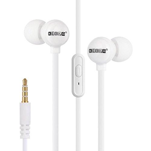 Fulltime® Keeka EE-39 nette Süßigkeit Stereo In-Ear-Kopfhörer für iPhone, Samsung Android-Smartphones, Sport Kopfhörer Earbuds Noodle Kabel mit Mikrofon Fernbedienung und Round Shell