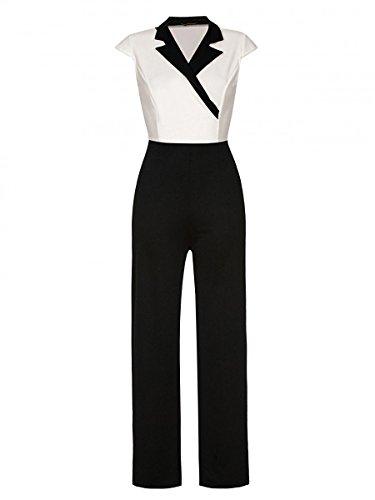 Mr.Shine - Damen Overall Jumpsuit - Gr. S-XL (XL, Weiß)