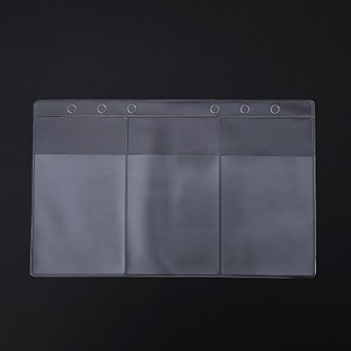 zrshygs Transparent Card Holder Clear PVC Business Card Storage Bag Filing Products Holder Binder Folder Cover A6 (Card Storage Business Binder)