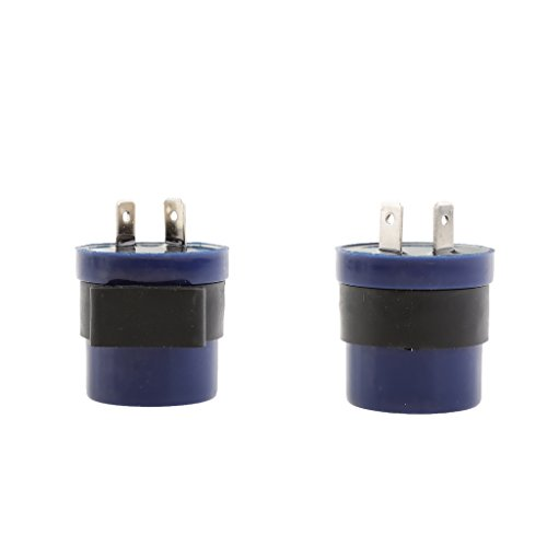 Sharplace 2 Pcs 6-12 V 2 Broches Moto Beeper Clignotant Indicateur Relais Flasher Bleu