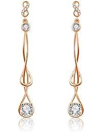 d15ba4b32641 Italina Bijoux Pendientes Mujer Joyería de Moda Pendientes de Borla  Pendientes de Gota Rodio Oro