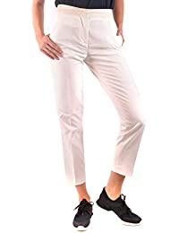 MONCLER Femme MCBI212092O Blanc Coton Pantalon 65ad4161ef6