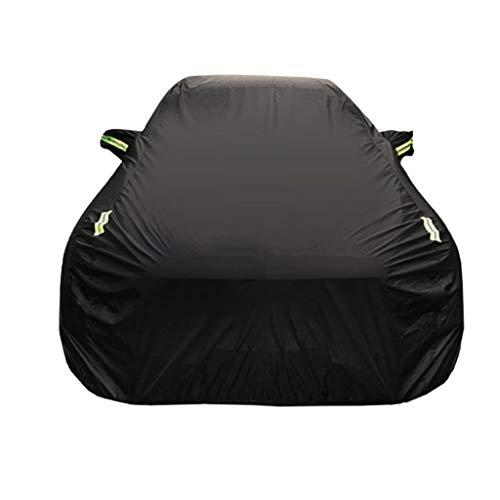 Zfggd Coprisedile auto impermeabile completamente traspirante Coprisedile per auto Indoor Indoor - Foderato in cotone - Resistente - Nero (Medio - Per Lincoln MKZ) (Size : 2017)