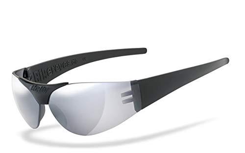 Helly® - No.1 Bikereyes® | H-FLEX®- unzerbrechlich, UV400 Schutzfilter, HLT® Kunststoff-Sicherheitsglas nach DIN EN 166 | Bikerbrille | Brillengestell: schwarz matt, Brille: moab 4