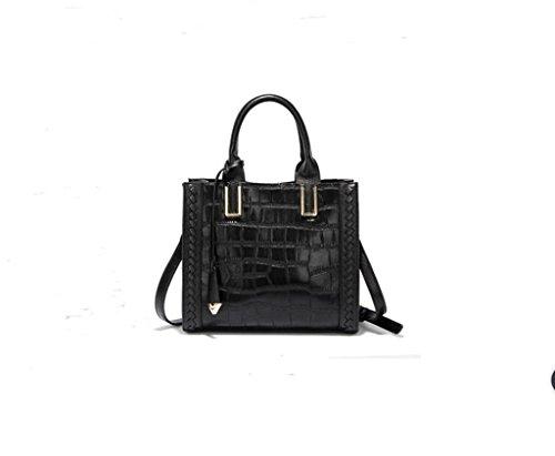 Borsa della donna, borsa, spalla del modello in stile europeo coccodrillo della moda di grande capienza del sacchetto della signora delle donne black