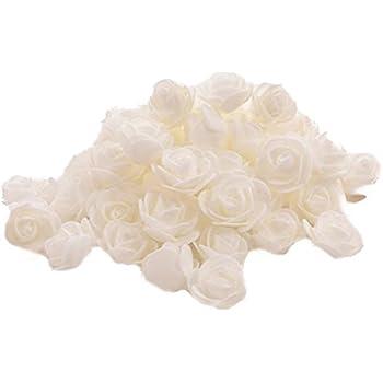 Demarkt Schaum Rose Blume Kopf Rosenblüten Rosenköpfe Kunstblumen ...