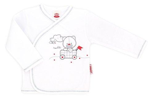 MAKOMA Baby Wickelshirt Langarm aus Baumwolle Unisex -Organic- (68)