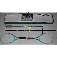 JOKA International Swing Tennis Set Tennisball an der Schnur, Haltestange 2 tlg. 2 Metall Tennisschläger Sowie Aufbewahrungstasche 13742