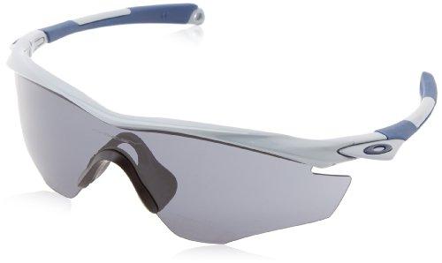 Oakley Herren M2 Frame Visier Sonnenbrille, Polished Fog/Grey (S3)