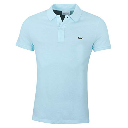 Lacoste PH4012 Herren Polo Shirt Kurzarm,Männer Polo-Hemd,2 Knopf,Slim Fit,Aquarium(F8R),Large (5) -