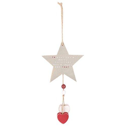 Holz-Stern Weihnachten h?ngende Dekoration