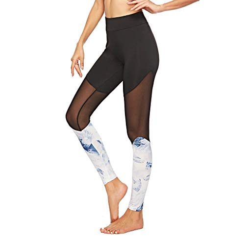 Leggings Hose Frauen Sporthose Yogahose Damen Jogginghose Gym Dünne Hosen 3D gedruckte Waben-Yogahose Fitness Leggings Hohe Taille Trainingshose Elastische Laufhose Sweathose Jogging M Schwarz S
