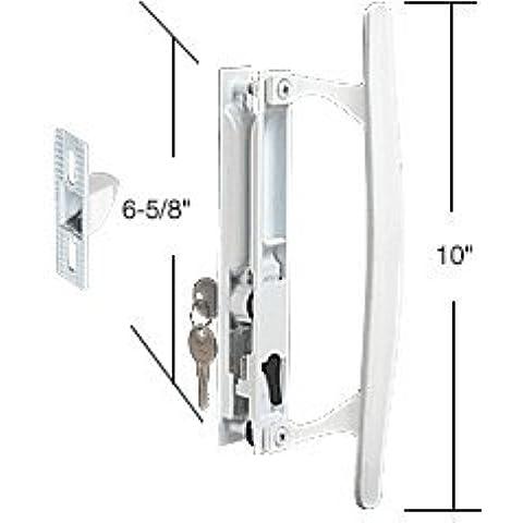 CRL blanco montaje rasante con puerta de cristal corredera juego advpro/6 - tirón interior 5/8-inch