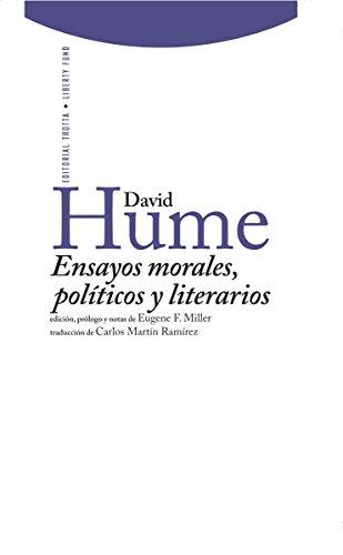 Ensayos morales, políticos y literarios (Libertad de los Antiguos-Libertad de los Modernos)