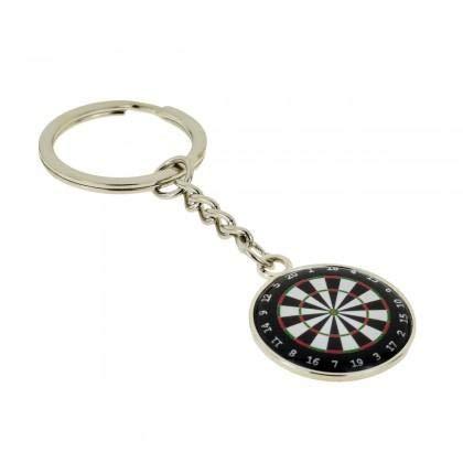 Dartboard Dartscheibe Spieler-Design Silber Schlüsselanhänger