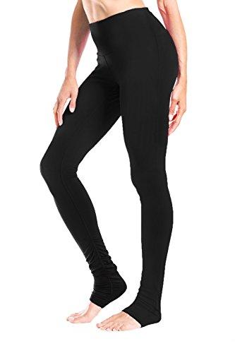 Yogipace Damen Leggings, 86,4 cm Lange Beinlänge, hohe Länge, für Yoga über der Ferse, Damen, Petite-High Rise-Black, S-Waist(27