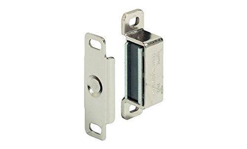 GedoTec® Möbelschnapper Möbel-Magnet Magnetverschluss für Möbel & Holztüren   Stahl vernickelt   Türschnapper mit 4 kg Haftkraft   Markenqualität für Ihren Wohnbereich