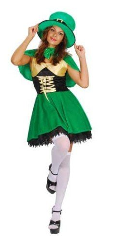 Kostüm Lady Fancy Dress - Lucky Leprechaun Adults Fancy Dress Ladies Outfit Costume