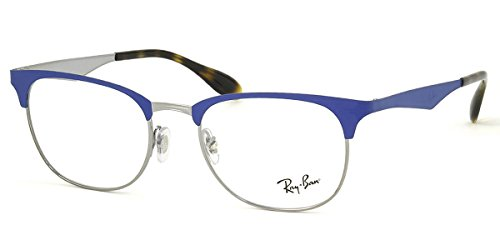 Ray-Ban unisex-adult RX6346 Brillen 52-19-145 w/Demo-Raum-Objektiv 2911 RX 6346 RB 6346 RB6346 Gunmetal Matt Light Blue groß