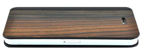 SunSmart (TM) Cas de bambou en bois pour Apple iPhone 4 / 4S - Véritable bambou bois Sauvegarde Shell de couverture de cas avec des bords en plastique durables(noyer) brun foncé