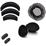 AURINKO Combo Pack 7pc Hair Accessories, Set Of 2Pc Oval Hair Puff-Up Volumizer + 3Pc Banana Bumpits And 2 Tic...