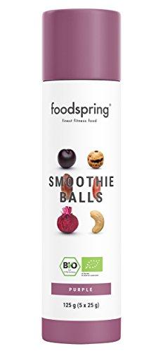 foodspring Bio Smoothie Balls, 5 x 25g, Dein 30 Sekunden Frühstücks Smoothie ohne zugesetzten Zucker und künstliche Aromen, Aus nachhaltiger Bio-Landwirtschaft