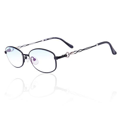 Intelligente Lesebrille Automatischer Zoom Anti-Ermüdungs-Sonnenbrille Fern und Nah Dual-use +1.0 (Color : PINK, Size : 125 DEGREES)