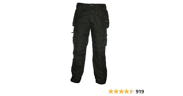 DeWalt Pro Pantalon de travail robuste en toile pour homme noir 30W x 29L 1