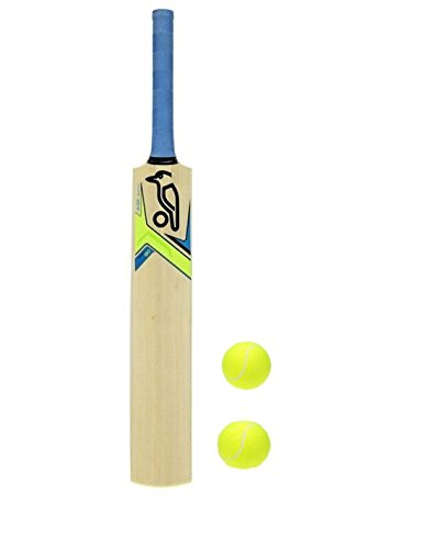 M M Junior Cricket Bat With 2 Ball Size 4 For 9-10 Year Kids