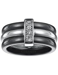 Ceranity Damen-Ring Sterling-Silber 925 Diamant Keramik 1-18/0003-N
