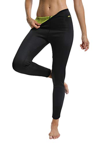 FITTOO Pantaloni Sauna Dimagranti Donna Leggins Sportivi Fitness Sauna Pants Hot Shapers Giallo S