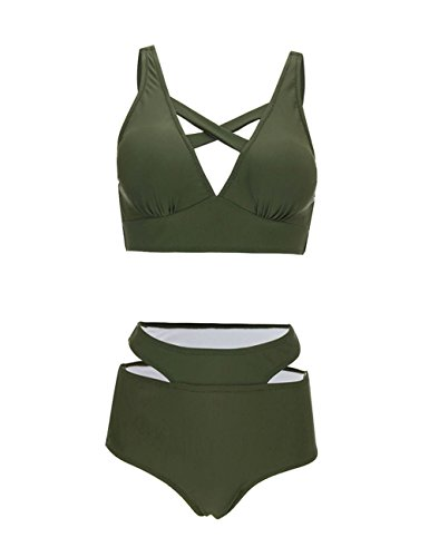 FeelinGirl Bikini Sets Damen Sexy Bademode Push up Bikinis Badeanzug Zweiteiler Strand Swimwear Swimsuits Beachwear