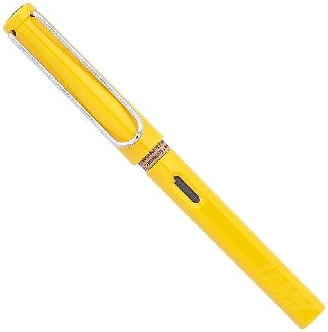 Lamy - Füllfederhalter Safari gelb hochglänzend, Stahlfeder, Breite: EF, Lieferung in Lamy-Geschenkbox.