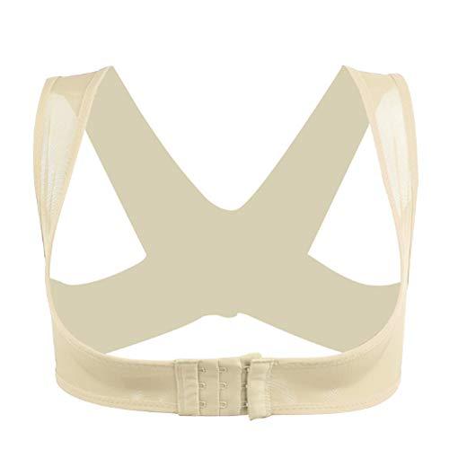 YIZHIQI Rückenstütze Körperhaltung Korrektor Haltungskorrektur Figurformende Shapewear Korrektur Schulter-Arm-Kontrolle Schlanker Gurt-Körper-Former Nahtlose Unterwäsche Damen,M -