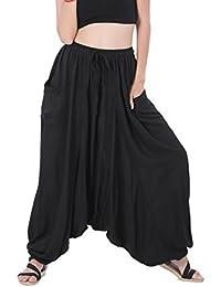 Whitewhale Men Women Summer Loose Baggy Hippie Boho Gypsy Harem Pants Plus Size