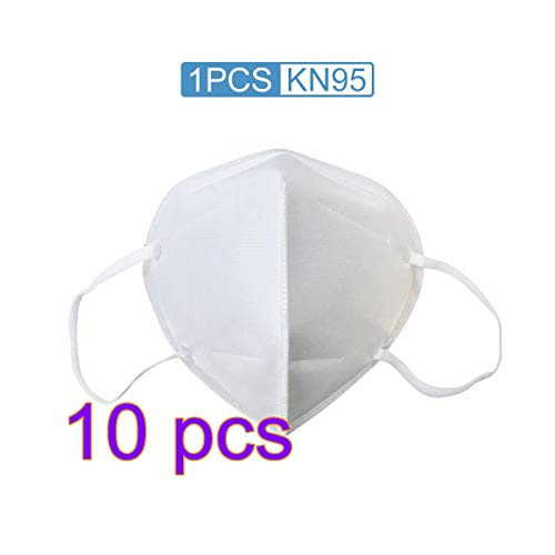 CTGVH 10Pcs KN95 Maske,Chirurgische Maske Einwegmaske PM2.5 Atemschutzmaske Gesichtsmaske Staubschutzmaske,Einstellbarer Nasenclip, Aktivkohle-Maske für Pollen, Rauch, Staub und persönliche Gesundheit