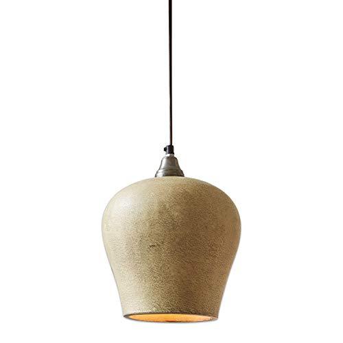 Loberon Hängelampe Lamoth, Terrakotta, Metall, H/Ø 24/20 cm, grau, E27, max. 25 Watt, A++ bis E