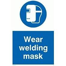 """Viking signos mp290-a5p-v """"desgaste máscara de soldadura"""" signo, vinilo, 200mm x 150mm W"""