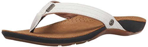 Reef Miss J-Bay Black R1241Bla - Flip Flop Donna Bianco (Tan/White)