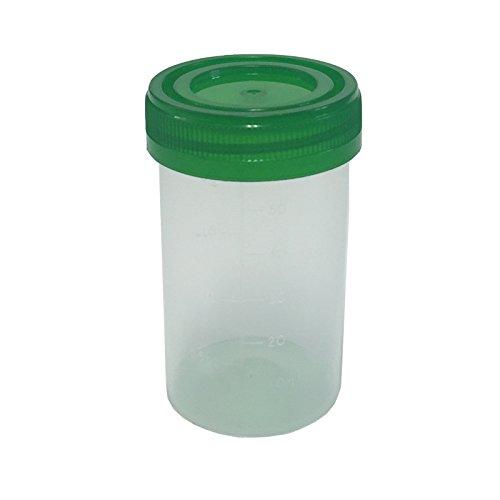 3x qualicare 60ml Espécimen UNIVERSAL VERDE TAPA POLIPROPILENO Muestras TEST Lab transparente manualidades Botella recipientes
