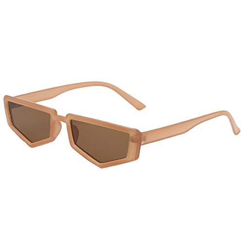 Hniunew Temperament Sonnenbrille Frauen Sonnenbrillen, Frauen-Weinlese-Katzenaugen-Sonnenbrille-Retro- Kleiner Rahmen Uv400 Eyewear Arbeiten Damen-GläSer Um Trend Punk Wind Brillengestell