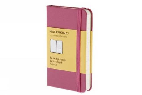 Ruled notebook extra small, dark pink