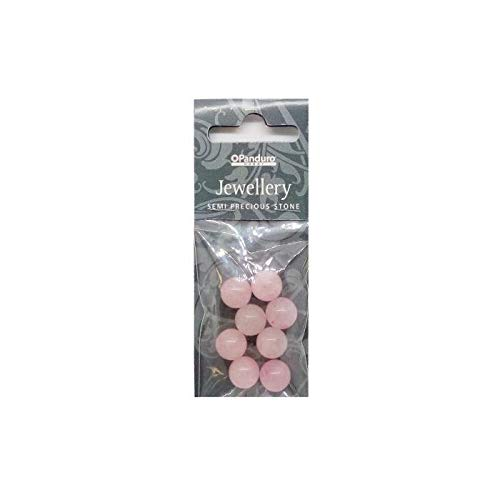 PANDURO Pierre semi-précieuses rose quartz - 8 pieces