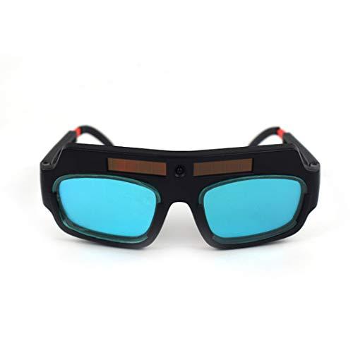 Guangtian Solarbetriebene Schweißbrillen Schutz Augenpflege Schweißer Brillen Schutzbrillen Auto Verdunkelung Helm Schweißmaske