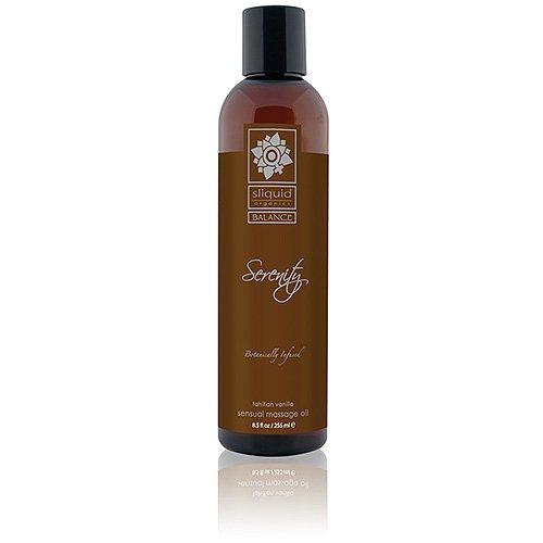 Sliquid Balance Collection Massage Oil 8.5oz - Serenity, 1er Pack (1 x 255 ml) (Mango-vanille-extrakt)