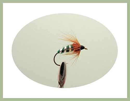 6-pack-of-green-sedge-pupa-trout-fishing-flies-choice-of-sizes-12-14