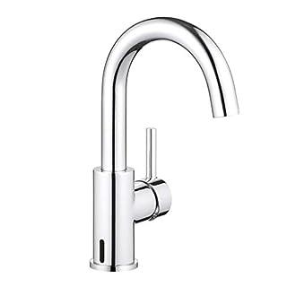 ubeegol 360° Drehbar Waschtischarmatur Hoch Waschbeckenarmatur Badarmatur Waschtisch Wasserhahn Bad Armatur Waschbecken Mischbatterie   (ohne Zugstange-Ablaufgarnitur)